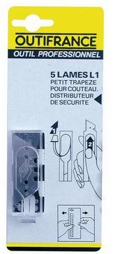 LAME TRAPEZE POUR COUTEAU - 50MM - BLISTER