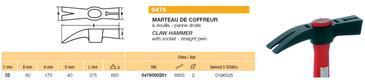 MARTEAU COFFREUR - MANCHE BOIS - 750G