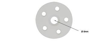 RONDELLE POUR FIXATION ISOLATION D 8X45MM - NYLON