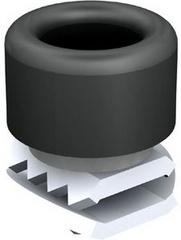 BUTEE POUR RAIL 25x25mm - ACIER GALVANISE