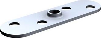 PLATINE POUR FIXATION SUR CHANT AVEC TROU TARAUDE - 25x25mm