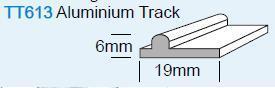 RAIL BAS ALUMIMIUM POUR PORTE COULISSANTE - 19 x 2500 MM - 5M