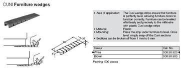 CALE MONTAGE PLASTIQUE SECTIONNABLE 20X99