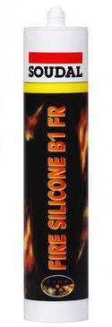 CARTOUCHE MASTIC SILICONE COUPE FEU - 310ML BLANC