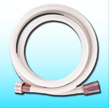 FLEXIBLE DE DOUCHE 1,50M - PVC BLANC