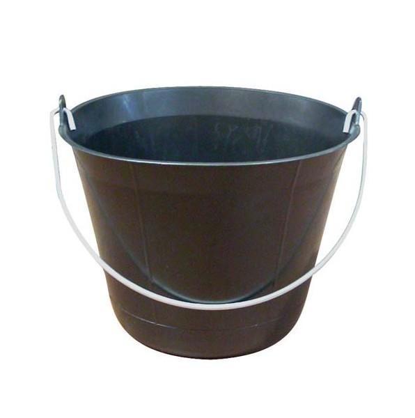 Seau - plastique polyethylene noir - 11 ou 13l